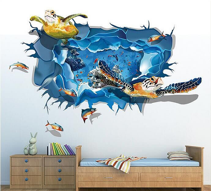 3d Sea Turtle Wall Stickers