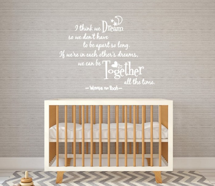 Winnie decal quote
