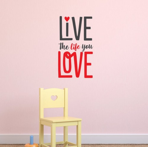 Live the life you love decal