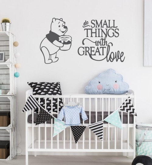 Do small things Winnie wall decal