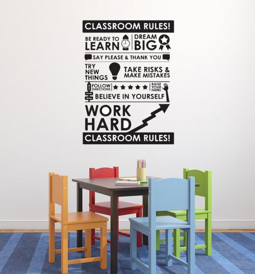 Classroom Rules decal
