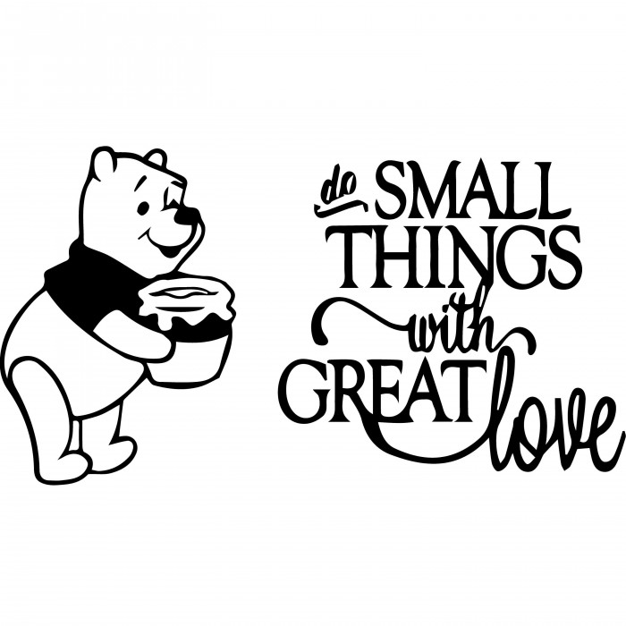 Do small things wall decal