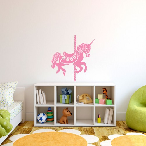 Unicorn carousel wall decals
