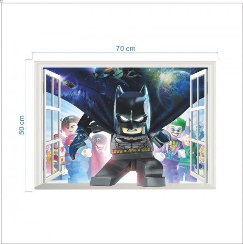 3d Lego Batman Wall Sticker