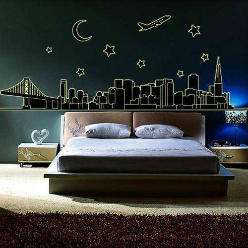 Luminous Wall Stickers For Bedroom Living Room Wall Decals Decoration Wallpapers