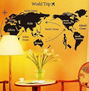 70 130cm World Font B Travel B Font Font B Map B Font Font B Wall