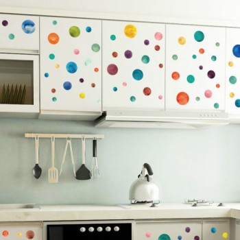 Colourful Dots Wall Decals 500x501