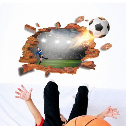 boys bedroom custom football wall decal 3d