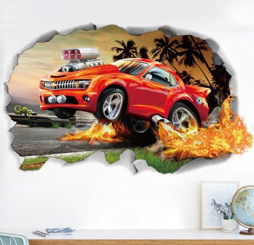 cars animated wall stickers