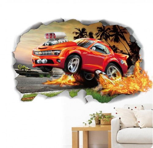 boys bedroom car wall decal