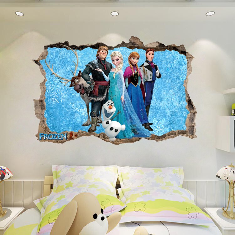 3d Effect Frozen Team Sticker Frozen Wall Sticker 3d Wall Sticker