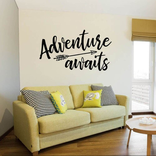 Arrow With Adventure Awaits Quotes Wall Decal 1024x1024