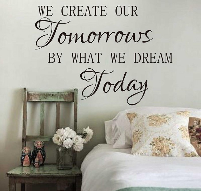 We Create Our Tomorrows Quote Wall Decal 2 1024x1024