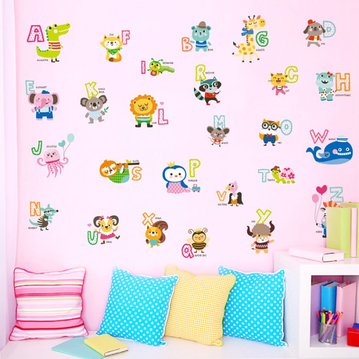 Alphabets wall stickers