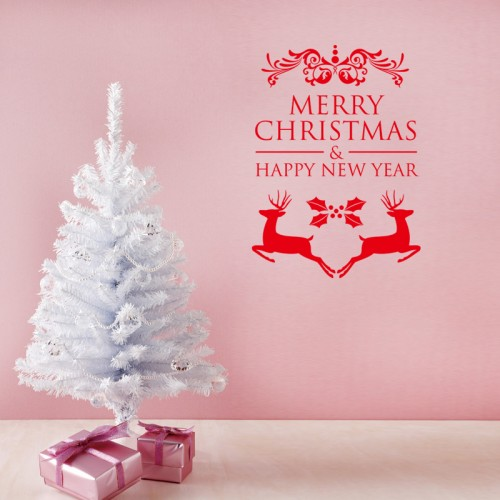 Christmas & Happy New Year Wall Decals