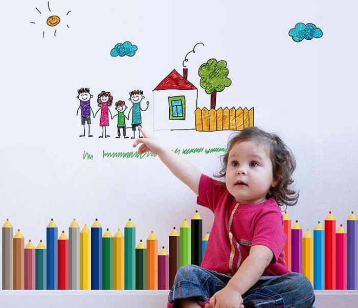 Colours wall decals for kids