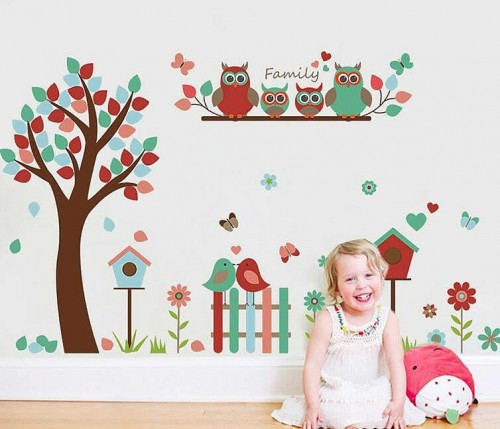 Tree Owl Wall Stickers