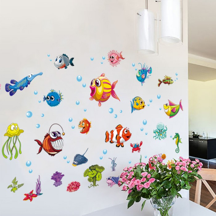 Fish Wall Decal Stickers
