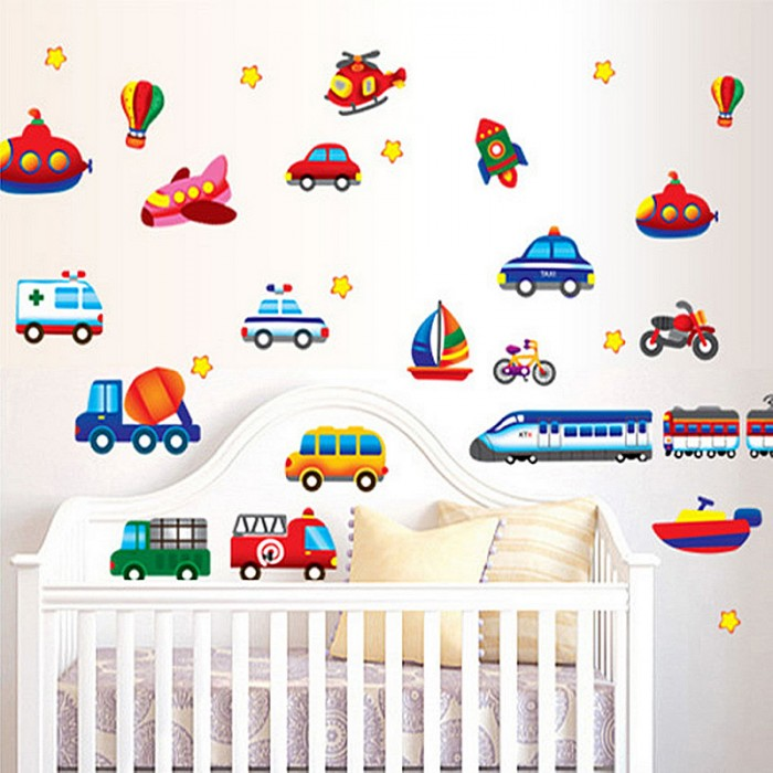 This beautiful Train Car Truck Helicopter Wall Stickers For Kids will brighten up any room. Instantly transform a plain surface into something unique and fabulous in minutes. Train Car Truck Helicopter Wall Stickers For kids are easy to apply, reposition, or remove – Just PEEL & STICK!